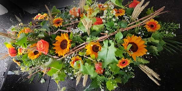 Bar à fleurs Montalieu - gerbe deuil champêtre