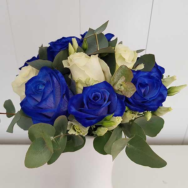 Bar à fleurs Montalieu - Bouquet de mariage en bleu et blanc
