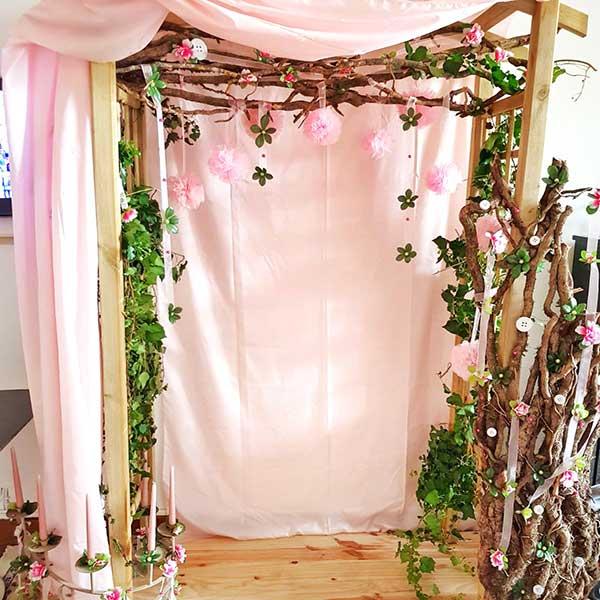 Bar à fleurs Montalieu - photobooth
