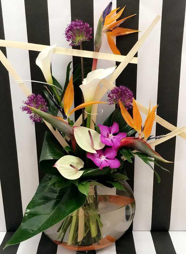 bouquet hauteur exotique