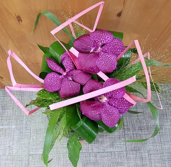 bouquet rond exotique