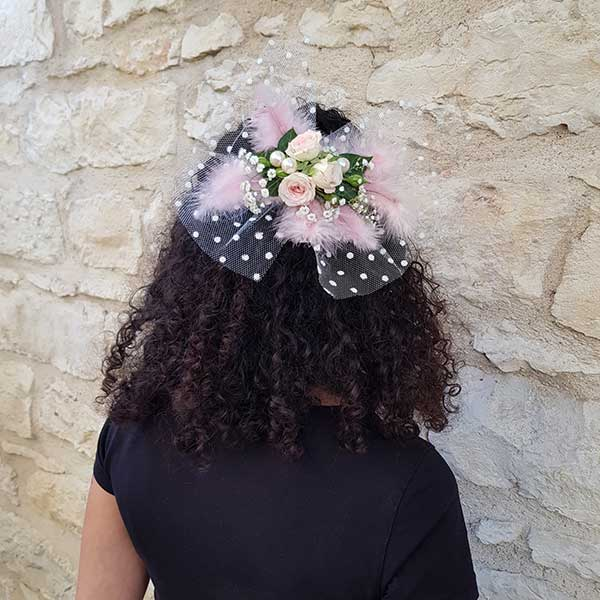 Bijoux floraux : Coiffe pour mariée ou demoiselle d'honneur