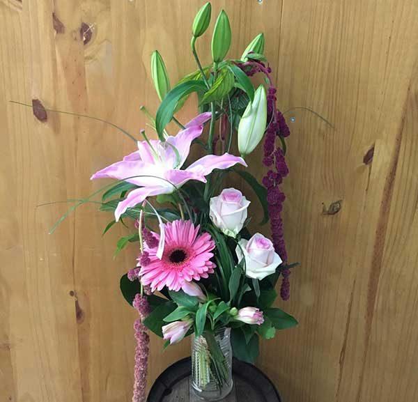 bouquet hauteur pretty in pink